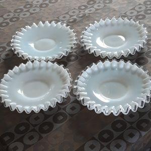Vintage Fenton Plates (4)